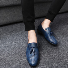 Yomior Men Shoes Luxury Brand Classic Fashion Formal Wedding Dress Shoes for Men Oxfords Zapatos Hombre Weaving Leather Shoes