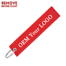 Keychain Aviation Gifts Jewelry Key-Ring Embroidery Customize Fashion for 200pcs Safety-Label