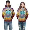 Harajuku Fashion 2017 Men/womens 3D Graphic galaxy Pullover Hoodies Print Psychedelic owl Sweatshirt Autumn/winter clothing