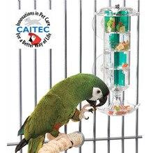 CAITEC попугай, игрушки, птица, кормление, ветряная мельница, игрушка, прочная, устойчивая к укусам, милый, забавный, лучший для средних или больших размеров, попугаев
