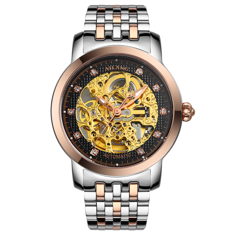 лучшая цена AILANG 6813 Switzerland watches men luxury brand automatic Genuine hollow thin section business casual men's watch waterproof