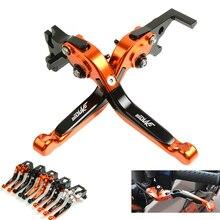 купить Motorcycle Folding Extendable CNC Moto Adjustable Clutch Brake Levers For KTM DUKE200 200 duke 200 2014 2015 по цене 2028.84 рублей