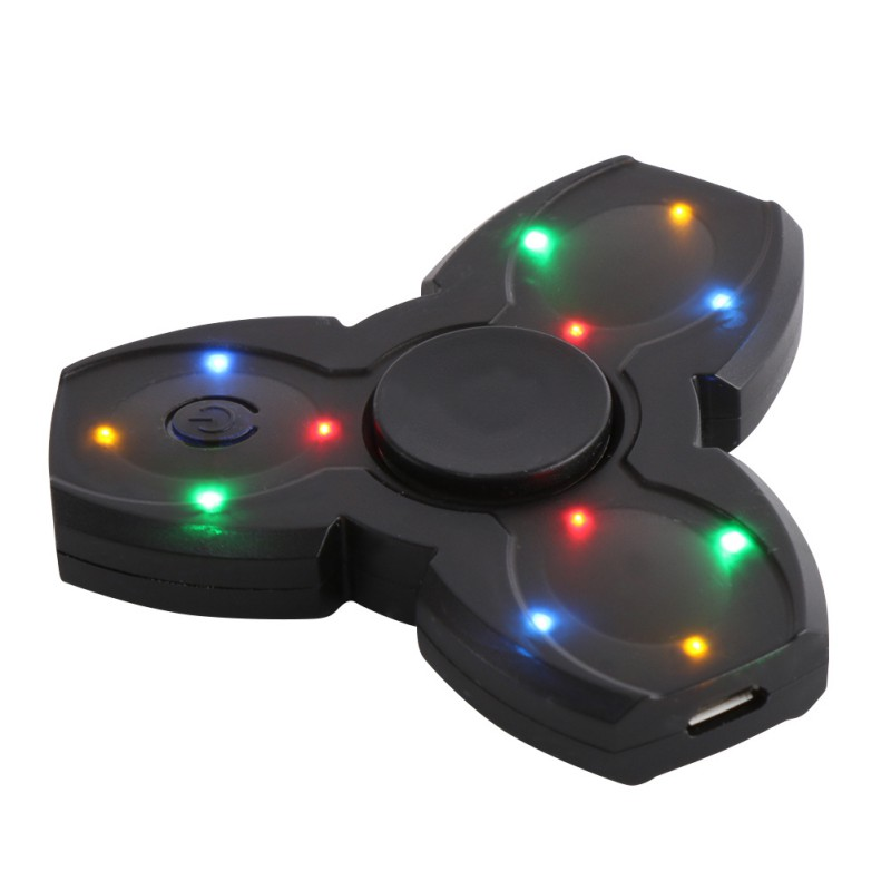 Mini Bluetooth Music Spinner Led Hand Fidget Toys ABS EDC Fingertips Gyro For Autism ADHD Anti Stress Relief Focus Handspinners new luminous metal fidget spinner triangle gyro edc hand finger spinner for autism adhd anxiety stress relief focus toys gift