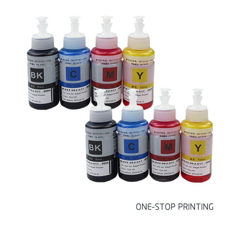 8PCS Non OEM dye ink Refill Kit for Epson L100 L110 L120 L132 L210 L222 L300