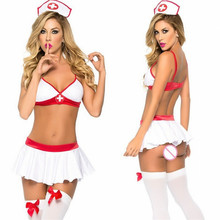 Porn Women Lingerie Sexy Hot Erotic Sexy Nurse Costumes Uniform Lenceria Sexy Nurse Costumes Cosplay Role Play Baby Dolls(China)