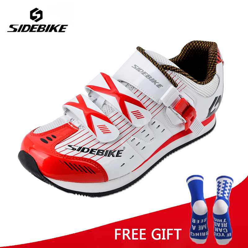 Sidebike MTB Road Cycling Shoes Ultralight Non Lock Bike Shoes Men Women Breathable Non Slip Leisure
