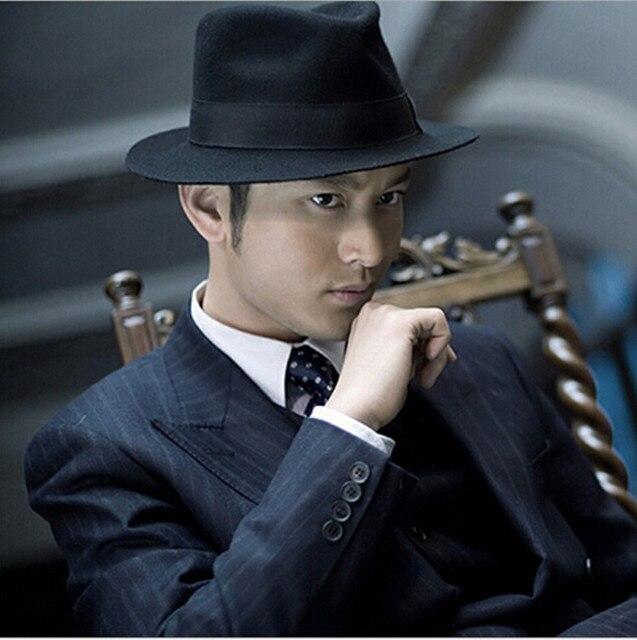 Fashion Fedora Hat Wide Brimmed Fedoras Men Snapback Gift Sun Hats Unisex  Dance Gangster Panama Cap 1b1759e79b1