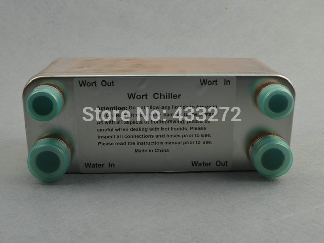 Plate heat exchanger Stainless Plate Wort Chiller 30 plates Brewing Chiller 1 2 male NPT X