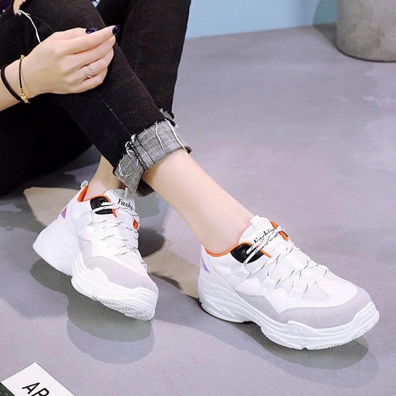 Vin Dame Chaussure Doux Marque Femme Plate Respirant De Forme Blanc F1JKc3Tl