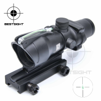 Tactical Trijicon ACOG 4X32 Optical Rifle Scope Real Fiber Optics Green Illuminated Crosshair Hunting Riflescopes