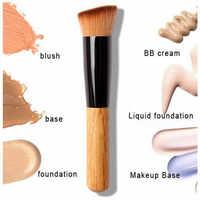 Professional Blush Makeup Brush Wood Soft Bb & Cc Cream Base Make Up Power Liquid Foundation Cream Cosmetics Makeup Tool