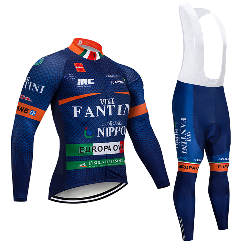 Зима 2018 VINI TEAM с длинным рукавом Трикотаж велосипед брюки комплект мужские Ropa Ciclismo термальность флис bi Майо Culotte