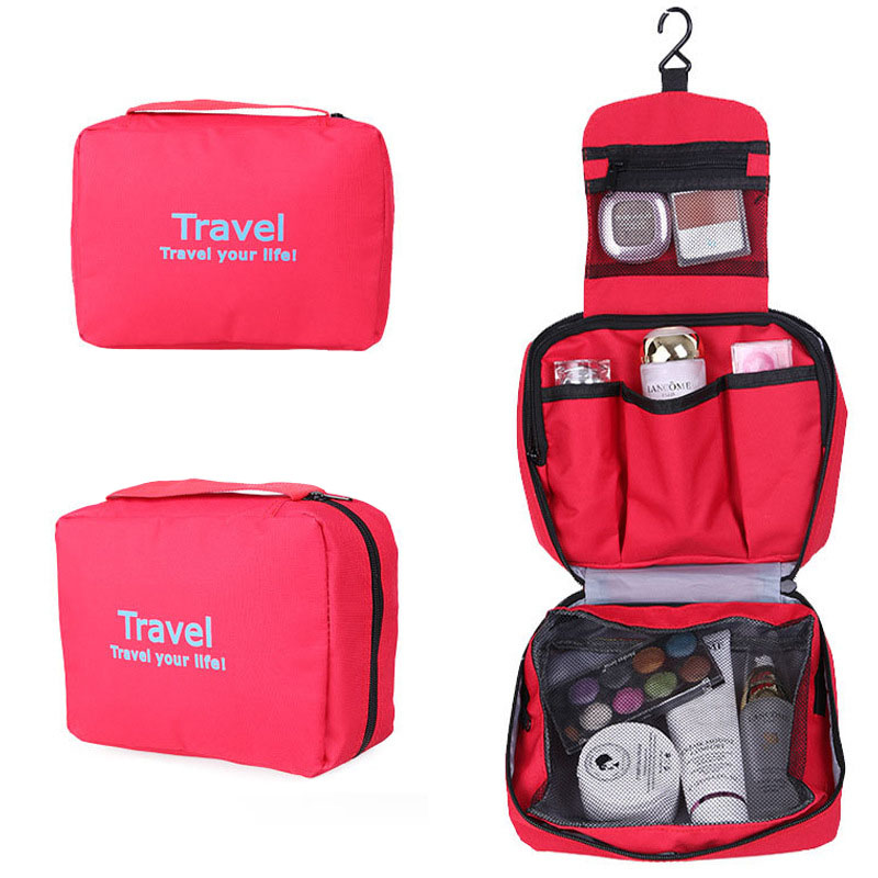 Double layer Waterproof Ladys Cosmetic Bags Portable Make Up Tools Organizer Pouch Wash Toiletry Vanity Travel Case Boxes