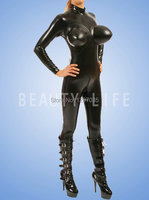 latex Catsuit with boobs for Inflatable breast,100% natural,handmade customizable size and color cosplay