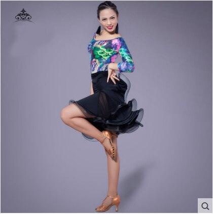 Latin Dance Kleid Sexy Silky Velvet Latin Girls Fransen Ballsaal Rock - Kunst, Handwerk und Nähen - Foto 4