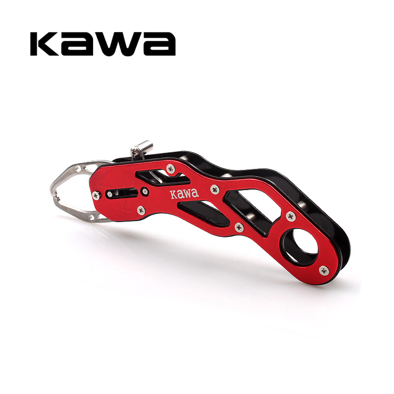 2018 Kawa New Fishing Grip Aluminum Alloy Fishing Grip Fish Lip Grip Gripper Grabber Grips Fishing Tackle Tool Portable Compact