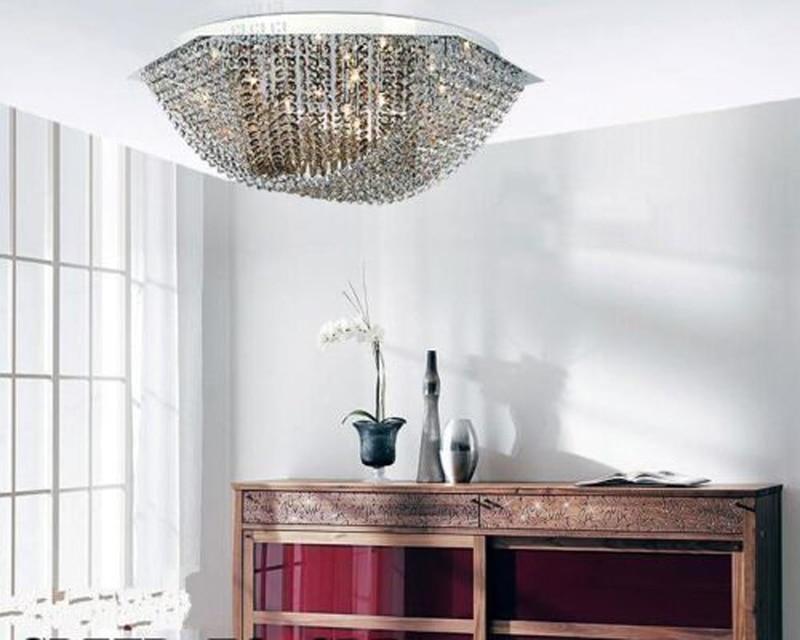 Modern Luxury Ceiling Chandelier Crystal Lamp Suspension Light Lighting Fixture for Dinning Room Restaurant
