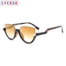 Women Cat Eye Sunglasses Fashion Retro Half Frame Shade Sun Glasses Lady Vintage Gradient/Flash Mirror Lens Eyeglasses UV400 L3 цены онлайн