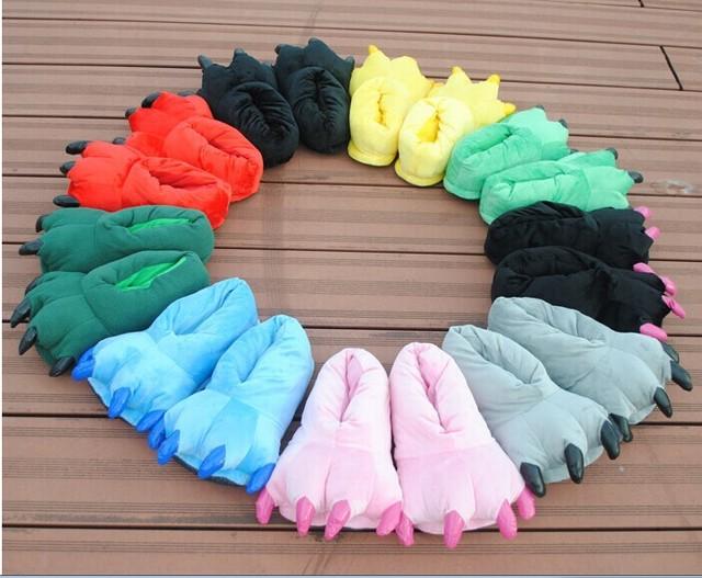 Gratis verzending paar de dinosaurus klauwen slippers kleuren