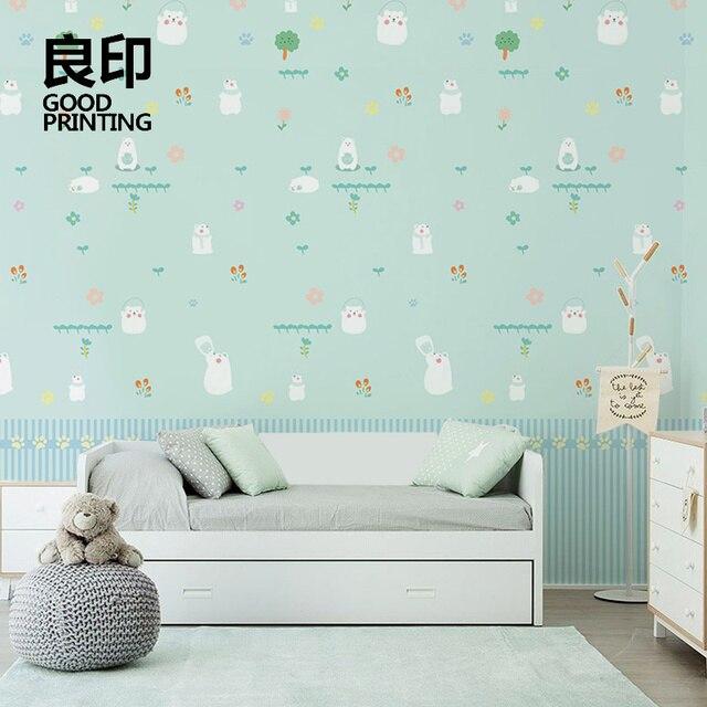 Good Printing Non Woven Wallpaper Children Ikea Nordic Children S Room Wall Cartoon Boy Girl Room
