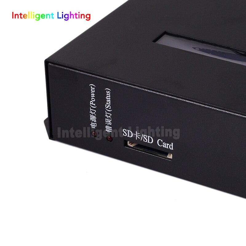 T-200K en ligne Led Pixel DMX contrôleur programme par PC pour WS2812 WS2811 1809 6803 WS2801 Pixels bande 8ports * 512 pixels - 4