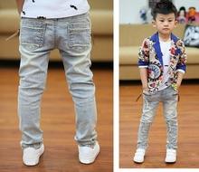 DIIMUU Kids Skinny Jeans Boys Denim Pants Teenage Casual Trousers Children Clothes Pockets Zipper Spring Stretch Long