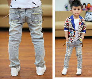 DIIMUU Jeans Boys Pants Trousers Clothes-Pockets Spring Stretch Skinny Teenage Zipper