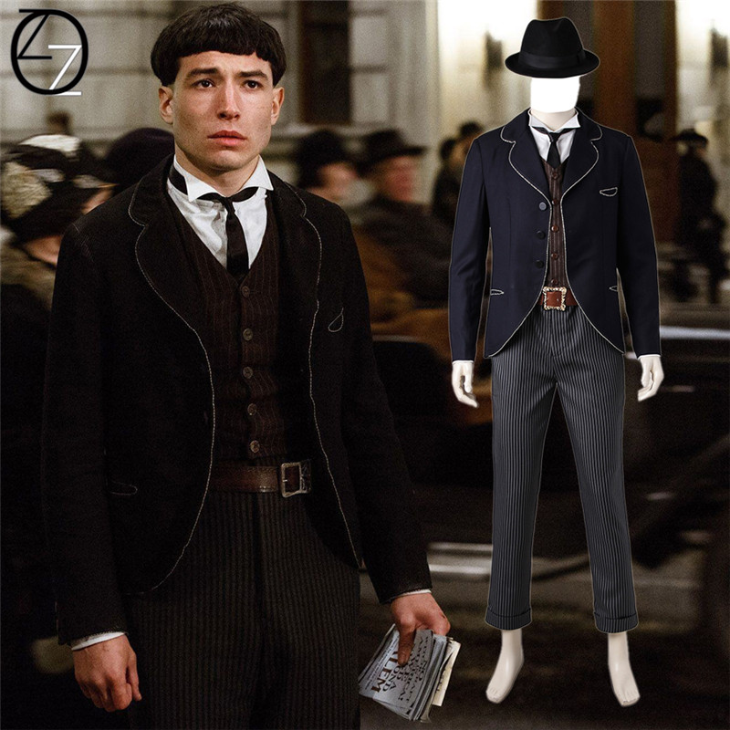 Fantastic Beasts and Where to Find Them Credence Barebone cosplay costume magical wizard cosplay suit adult Credence costume