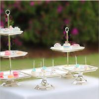 Europe silver plated cake display rack Octagon dishes cake decorating tools wedding cake stand for wedding decoration DGJ020