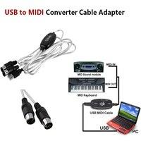 OCDAY USB IN-OUT MIDI Interface Cable Chuyển Đổi PC để Âm Nhạc Bàn Phím Dây