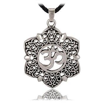 Open filigree lotus flower om ohm aum symbol pendant necklace for open filigree lotus flower om ohm aum symbol pendant necklace for men mightylinksfo