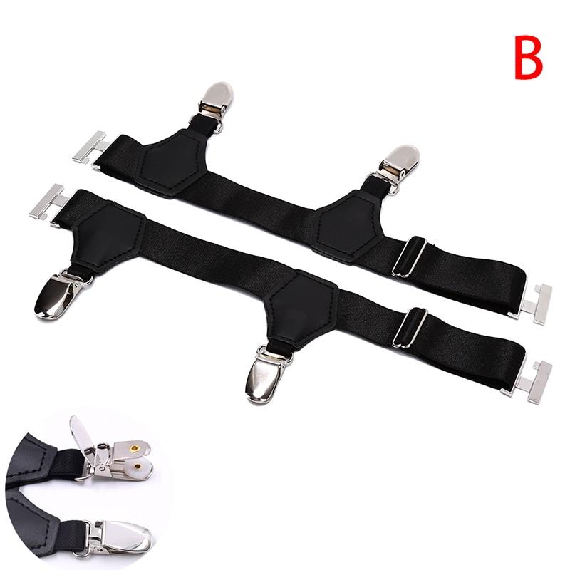 1 Pair Men Sock Garters 2.5CM Width Men's Suspenders Resistance Belt  Hombre Ajustables Sock Garters