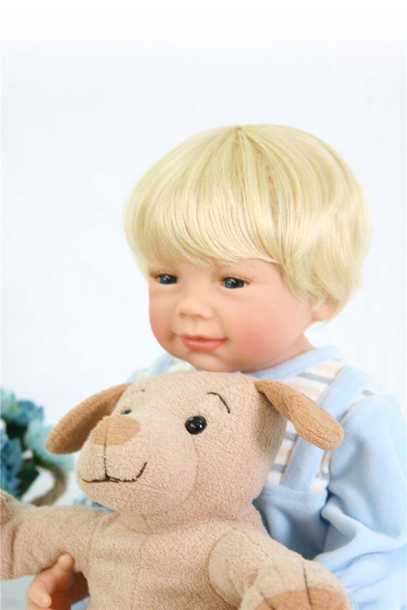 Poupées silicone reborn bébé garçon poupées vraie blonde Bebes reborn menino bonecas 55 cm avec peluche Surprise cadeau Santa bebe - 2