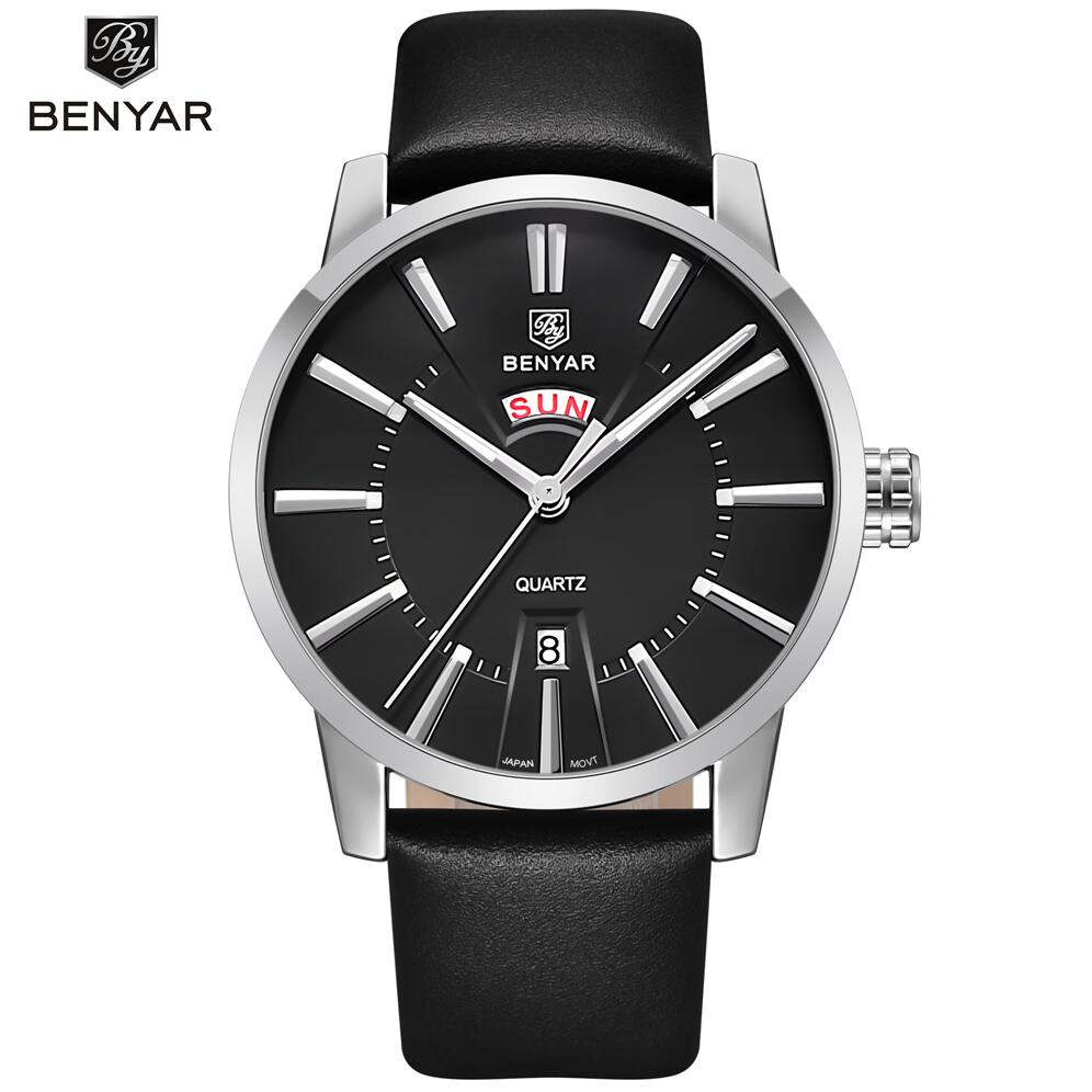 BENYAR Fashion Mens Watches Top Brand Luxury Casual Business Sport Watch Men Quartz-Watch Male Clock  Relogio Masculino 2017 baosaili fashion casual mens watches top brand luxury leather business quartz watch men wristwatch relogio masculino bs1038