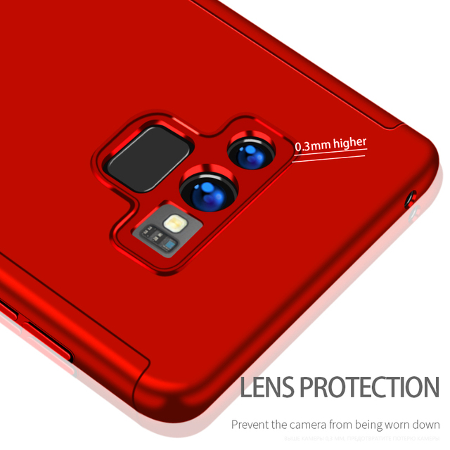 360 Degree Full Cover Case For Samsung Galaxy S9 S8 Plus Phone Cases For Samsung Note8 9 S9 S8 Protective Case With Soft Film
