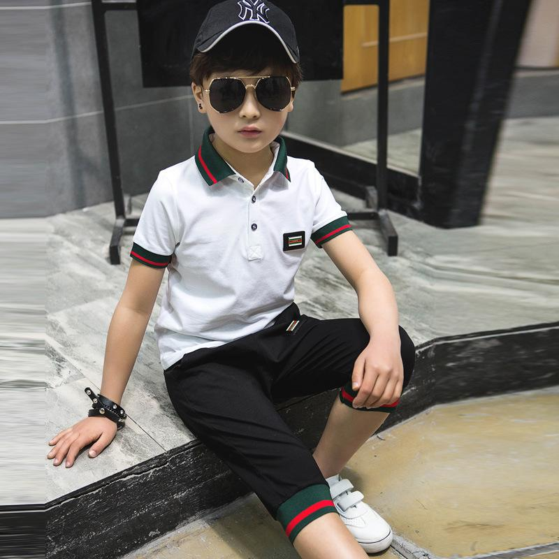 Boy Set Summer 2017 New Large Children Short Sleeve Two Sets Of Korean ChildrenS Sports Suit Boy Summer Models ...