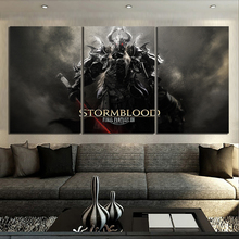 3 Piece Fantasy Art Paintings Video Games FINAL FANTASY XIV Stormblood Poster HD Wall Pictures Canvas for Home Deco