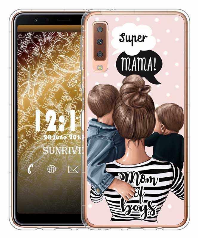 ファッション黒茶色の髪赤ちゃんのママガールの女王 01 女性電話ケース S8 S9 プラス A6 A6Plus A8 a8Plus 2018 A7 2018 A750