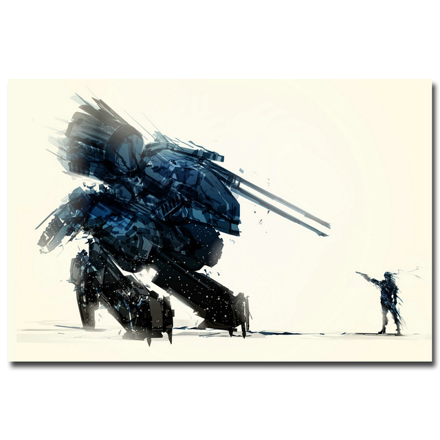 Шелковый Плакат гобелен Metal Gear Solid V