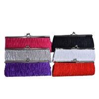 Bolso de mano de noche para mujer en 6 colores, elegante bolso de mano Vintage, bolso de mano para boda, bolso para fiesta, banquete, cartera, Mini bolso