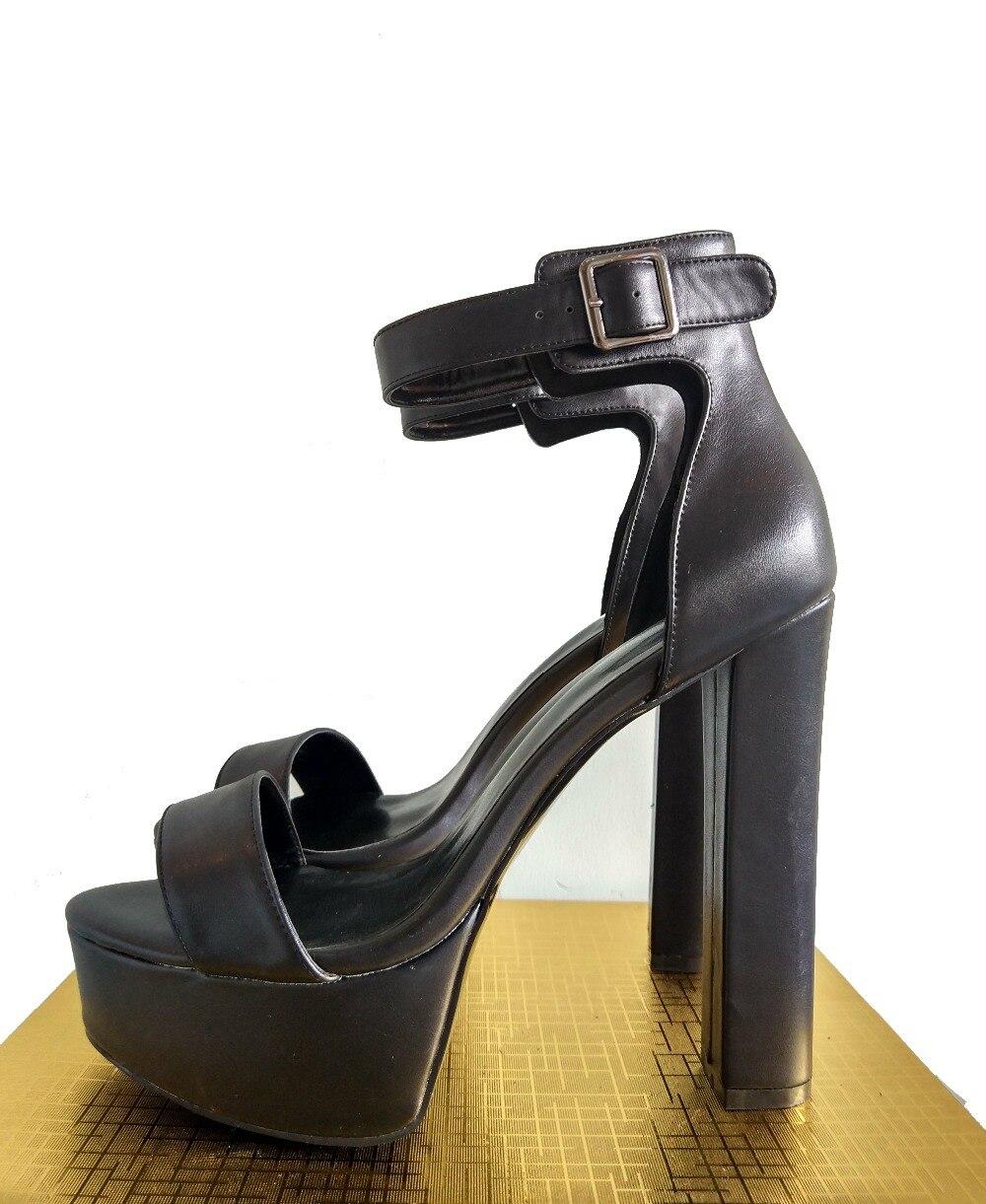Sandales 4 Femme Us La Qualité 15 8812 Nude Bout Chaussures Carrés Femmes forme 8811 Plus Ouvert Noir De Haute Initiale L'intention Plate Talons Taille À E1qaA