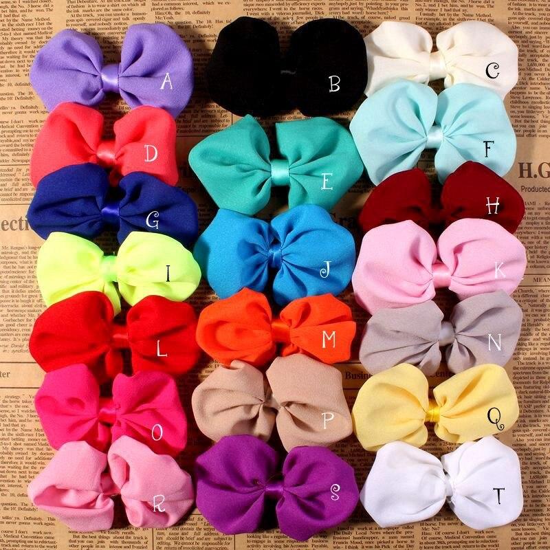 (200 unids/lote) 20 Colores Satén Encantador Arco Accesorios Para Las Niñas/Muje