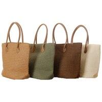 YJ20 Big Women Summer Straw Bag Hand Beach Tote Bags Casual Handbag Famous Brand Bolsos Bolsas
