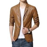 Искусственная кожа Пиджаки для женщин Для мужчин модные хаки slim fit Пальто для будущих мам одноцветное Цвет ПУ человек Куртки плюс Размеры ...
