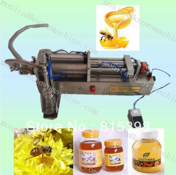 Manual Pneumatic single head Honey filling machine((from 100g to 2000g )