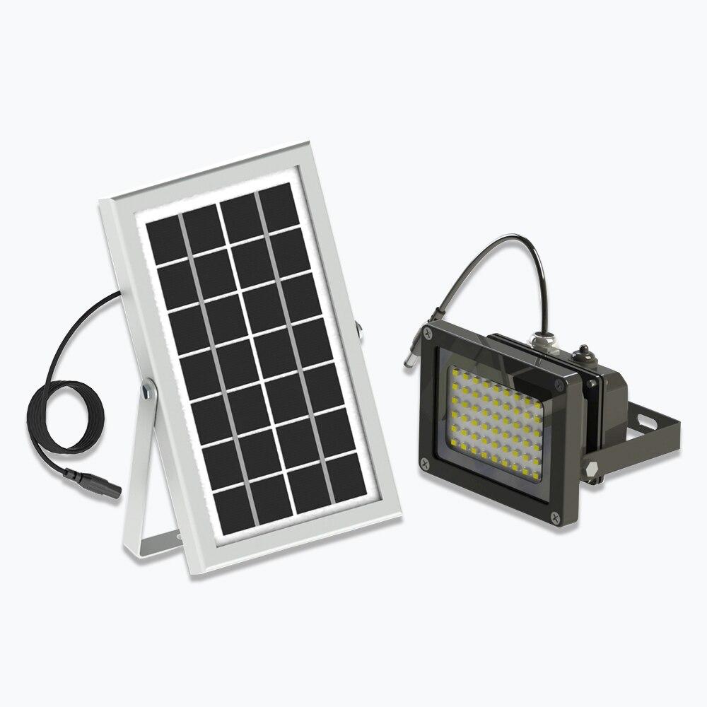 Led Flood Light With Night Sensor: 10W 54LED Solar Light Solar Powered Panel Floodlight Night
