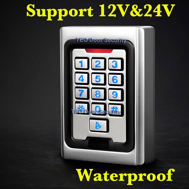 Rétro-éclairage clavier métal accès 2000 utilisateurs 125 khz RFID système de contrôle d'accès utilisation extérieure 9 à 28 Wiegand 26 bits vitesse rapide