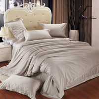 Home Textile Bamboo Fiber Bedding Set For 5star Hotel Luxury Duvet Cover Set Bed Sheet Bed