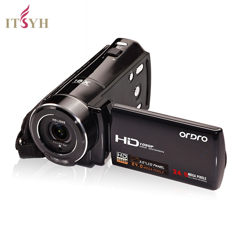 ITSYH Digital camera for family HD 2400 24 million pixels camcorder video wireless distant control cameras+Bag LF01-365