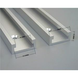 "Image 3 - 1 יחידות T מסלולים אלומיניום חריץ מצנפת מסלול לנענע מתקן נתב שולחן Bandsaws נגרות כלי אורך 300/ 400/600/800 מ""מ"